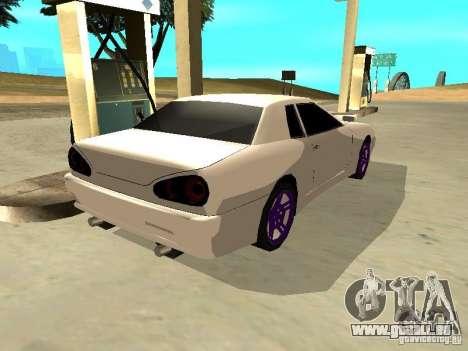 New Elegy v.1 für GTA San Andreas zurück linke Ansicht