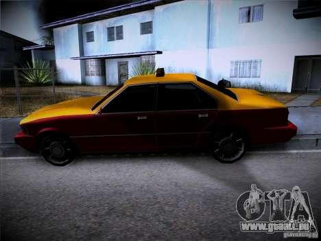 Sentinel Taxi für GTA San Andreas Rückansicht