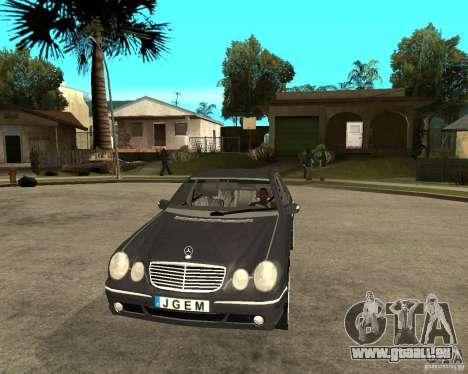 Mercedes–Benz E Class pour GTA San Andreas vue arrière