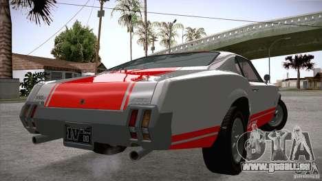 Sabre GT From GTA IV pour GTA San Andreas sur la vue arrière gauche