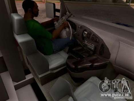 Ford E-350 Ambulance v2.0 pour GTA San Andreas vue intérieure
