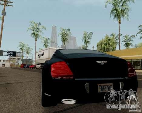 Bentley Continental GT V1.0 für GTA San Andreas zurück linke Ansicht
