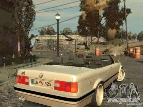 BMW 3-er E30 pour GTA 4 Vue arrière