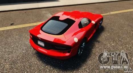 Dodge Viper GTS 2013 pour GTA 4 est une vue de l'intérieur