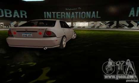 Lexus IS300 für GTA San Andreas zurück linke Ansicht