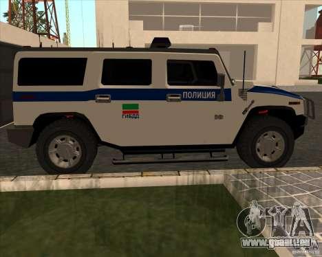 Hummer H2 DPS pour GTA San Andreas laissé vue