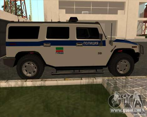 Hummer H2 DPS für GTA San Andreas linke Ansicht