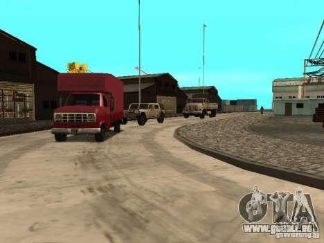 Renouvellement de la base militaire sur les quai pour GTA San Andreas deuxième écran