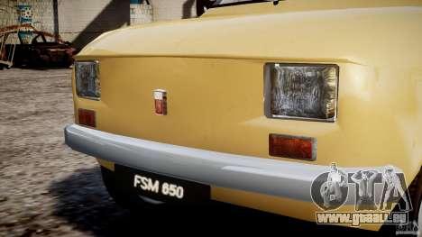 Fiat 126p 1976 pour GTA 4 Salon