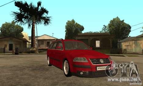VW Passat B5 Variant für GTA San Andreas Rückansicht