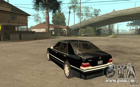 Mercedes-Benz S600 V12 W140 1998 V1.3 pour GTA San Andreas sur la vue arrière gauche