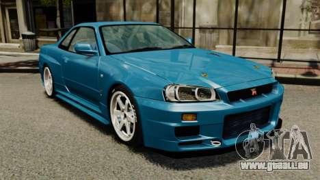 Nissan Skyline R34 2002 v1.1 für GTA 4