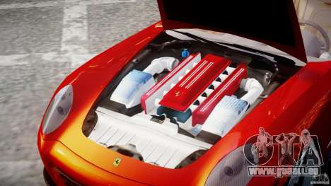 Ferrari 612 Scaglietti custom pour GTA 4 est une vue de l'intérieur