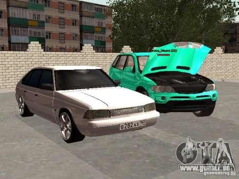 Moskvich 2141 pour GTA San Andreas vue arrière