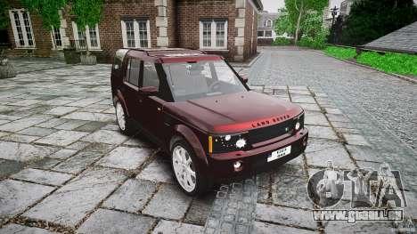Land Rover Discovery 4 2011 pour GTA 4 Vue arrière