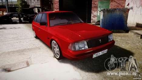 AZLK Moskvitch 2141 STR-v 2.1 pour GTA 4 Vue arrière