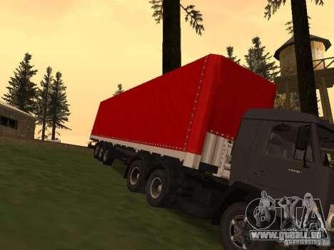 Nefaz 93344 rouge pour GTA San Andreas vue arrière