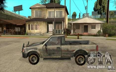 Rusty Mazda Pickup pour GTA San Andreas laissé vue
