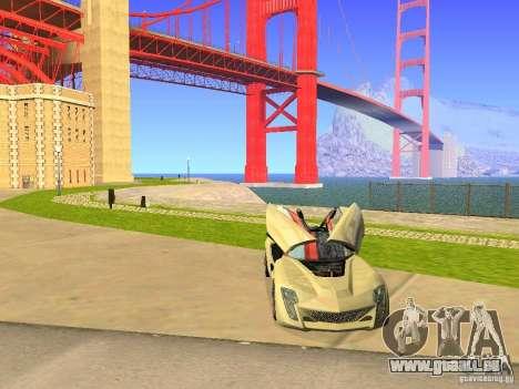 Bertone Mantide für GTA San Andreas Unteransicht