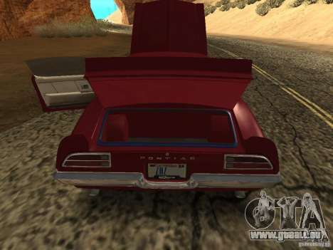Pontiac Firebird 1970 pour GTA San Andreas vue arrière