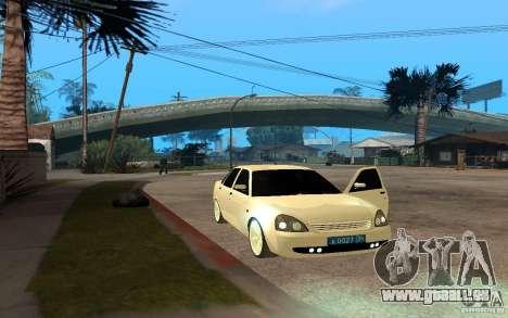 Lada Priora Light Tuning für GTA San Andreas zurück linke Ansicht