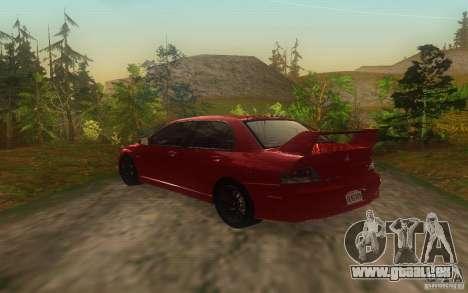 Mitsubishi Lancer Evolution IX 2006 MR v2 pour GTA San Andreas