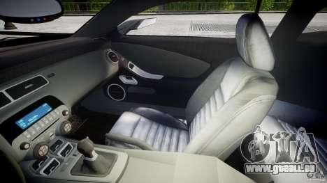 Chevrolet Camaro SS 2009 v2.0 pour GTA 4 est une vue de l'intérieur