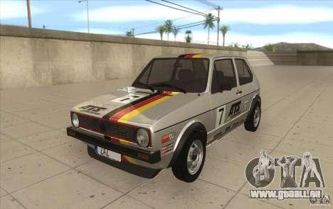Volkswagen Golf Mk1 - Stock pour GTA San Andreas moteur