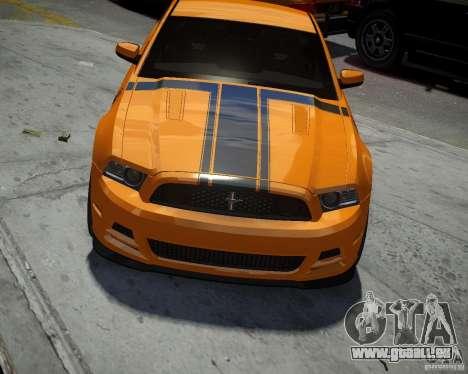 Ford Mustang Boss pour GTA 4 est une vue de l'intérieur