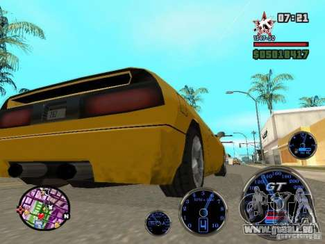 Speedometer GT für GTA San Andreas her Screenshot
