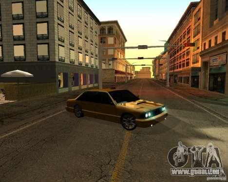 Azik Taxi pour GTA San Andreas sur la vue arrière gauche