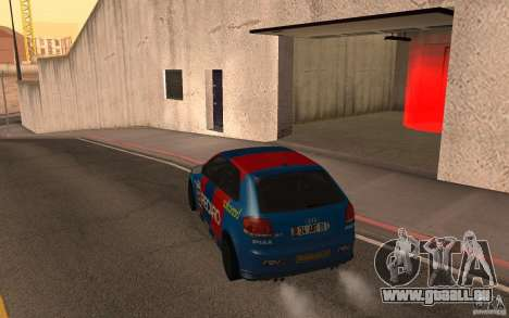 Audi S3 Tunable pour GTA San Andreas sur la vue arrière gauche