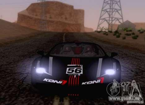 Ferrari F458 pour GTA San Andreas vue intérieure