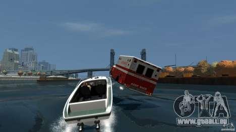 Ambulance boat pour GTA 4 est une vue de l'intérieur
