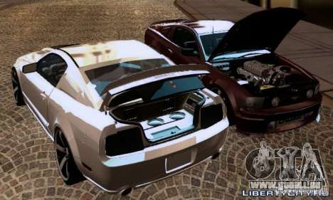 Ford Mustang GTS pour GTA San Andreas vue intérieure