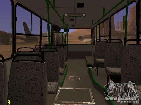 Ikarus C63 pour GTA San Andreas vue intérieure