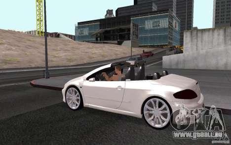 Peugeot 307CC BMS pour GTA San Andreas vue de dessous