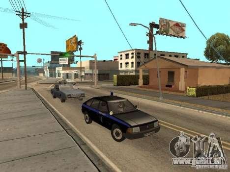 AZLK 21418 patrouiller pour GTA San Andreas vue arrière