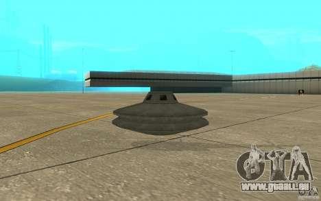UFO pour GTA San Andreas sur la vue arrière gauche