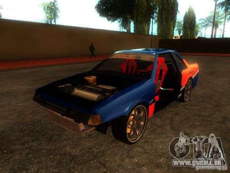 Previon FNF3 für GTA San Andreas Rückansicht