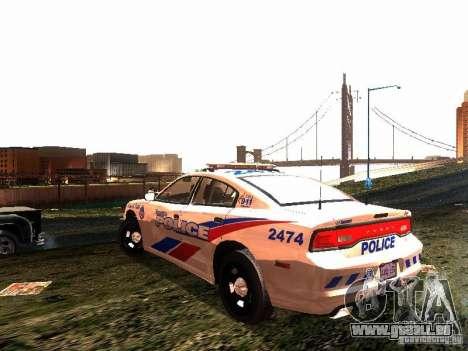 Dodge Charger 2011 Toronto Police für GTA San Andreas zurück linke Ansicht