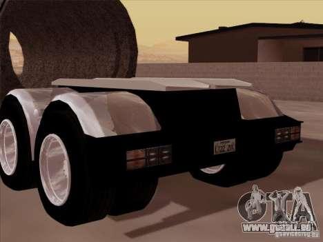 Remorque, Peterbilt 378 Custom pour GTA San Andreas sur la vue arrière gauche