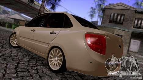 VAZ 2190 Granta pour GTA San Andreas sur la vue arrière gauche