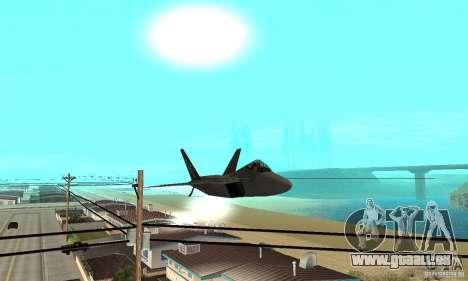 F-22 Grey pour GTA San Andreas vue de côté