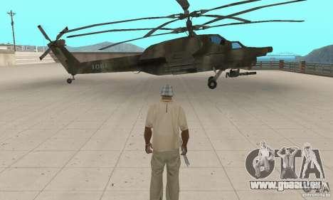 Mi-28 pour GTA San Andreas sur la vue arrière gauche