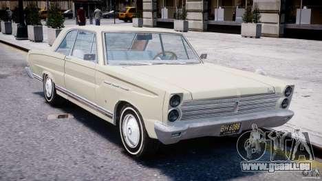 Ford Mercury Comet 1965 pour GTA 4 est une vue de dessous