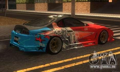 Toyota Supra Evil Empire für GTA San Andreas Rückansicht
