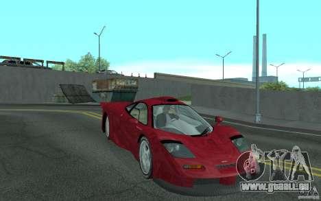 Mclaren F1 GT (v1.0.0) für GTA San Andreas Rückansicht