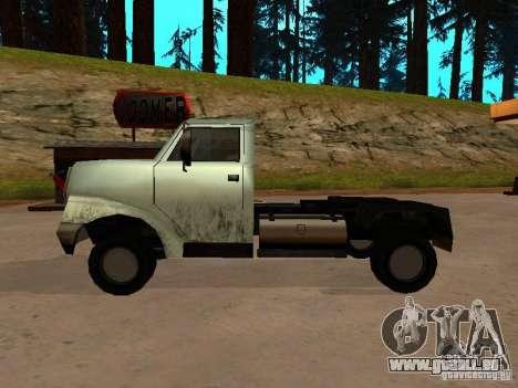 Yankee Truck pour GTA San Andreas vue de droite