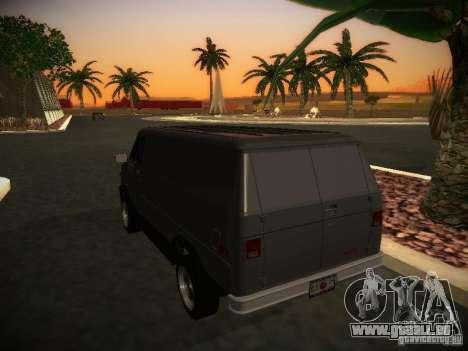GMC Vandura pour GTA San Andreas vue de droite